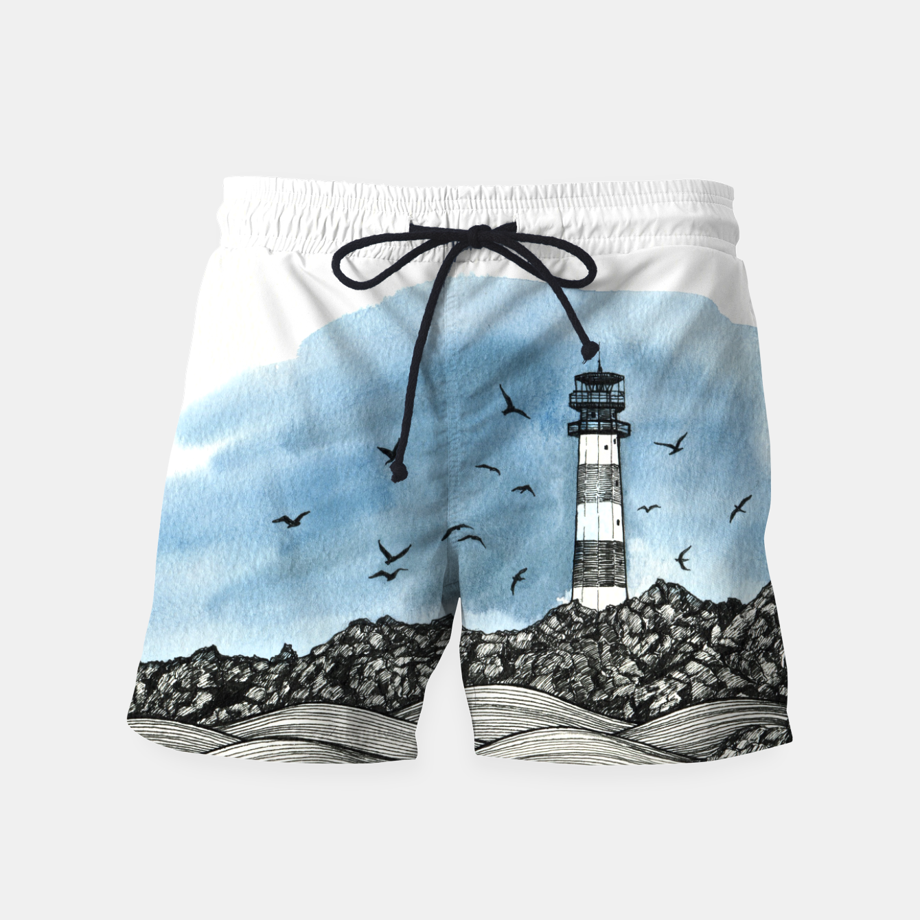 Image of Lighthouse Swim Shorts - Live Heroes
