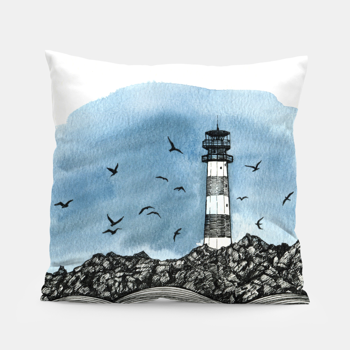 Image of Lighthouse Pillow - Live Heroes