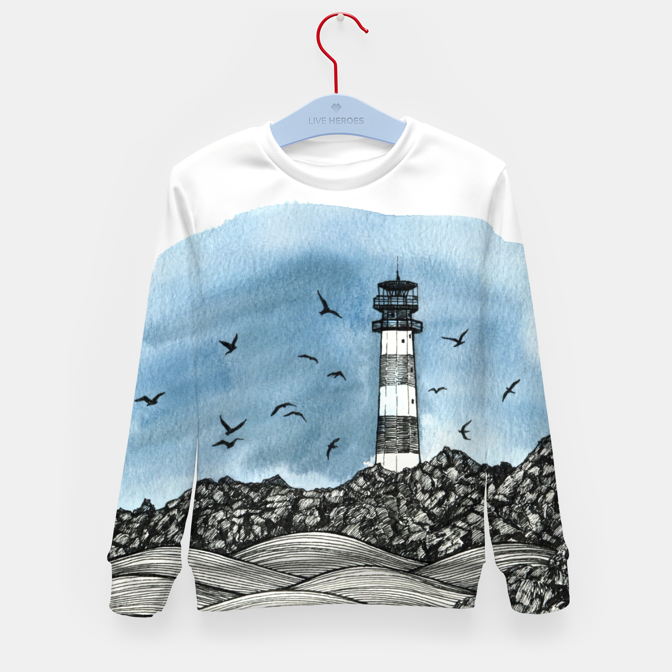 Image of Lighthouse Kid's Sweater - Live Heroes