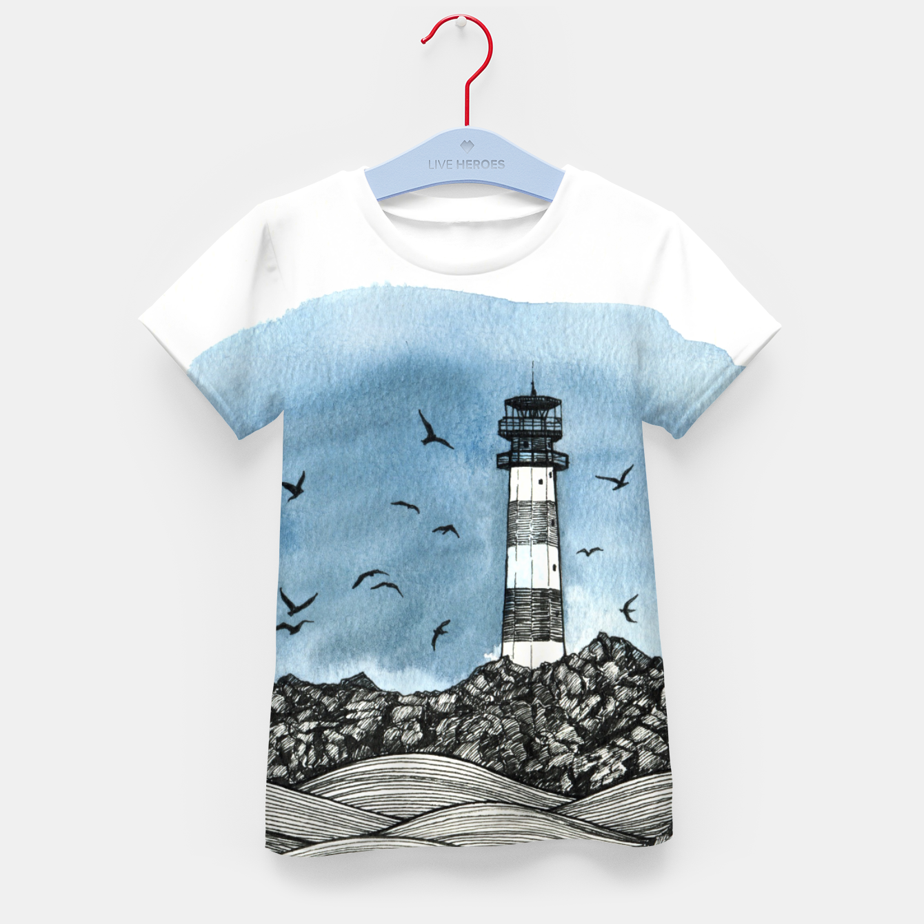 Image of Lighthouse Kid's T-shirt - Live Heroes