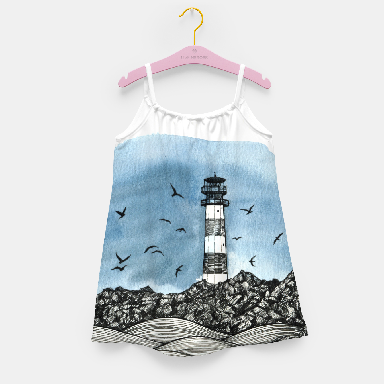 Image of Lighthouse Girl's Dress - Live Heroes