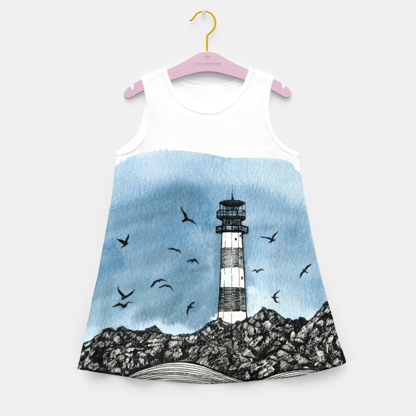 Image of Lighthouse Girl's Summer Dress - Live Heroes