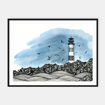 Thumbnail image of Lighthouse Framed poster, Live Heroes