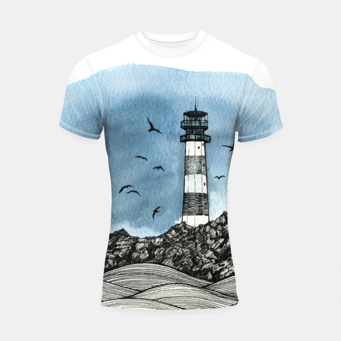 Image of Lighthouse Shortsleeve Rashguard - Live Heroes