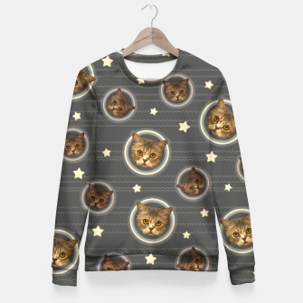 Thumbnail image of Planets of the Cats Fitted Waist Sweater, Live Heroes