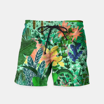 Thumbnail image of Dense Forest Swim Shorts, Live Heroes