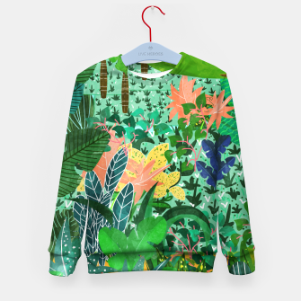 Thumbnail image of Dense Forest Kid's Sweater, Live Heroes