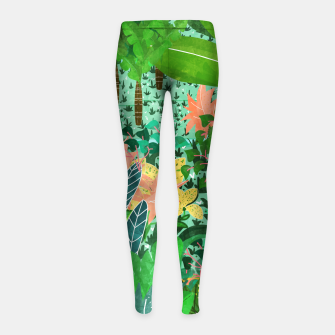 Thumbnail image of Dense Forest Girl's Leggings, Live Heroes