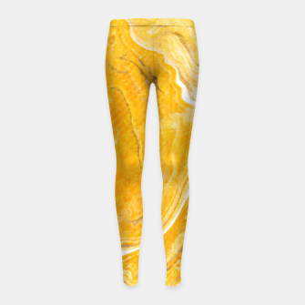 Thumbnail image of Snake Skin Marble Girl's Leggings, Live Heroes