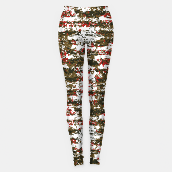 Miniaturka Grunge Textured Abstract Pattern Leggings, Live Heroes