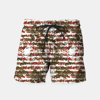 Miniaturka Grunge Textured Abstract Pattern Swim Shorts, Live Heroes