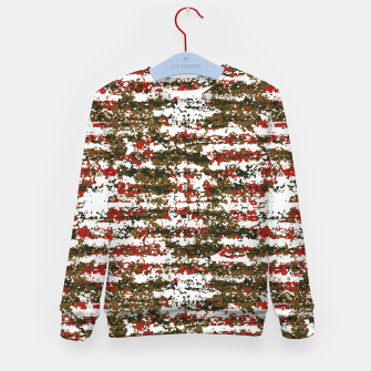 Miniaturka Grunge Textured Abstract Pattern Kid's Sweater, Live Heroes