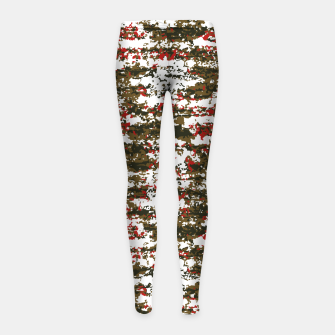 Miniaturka Grunge Textured Abstract Pattern Girl's Leggings, Live Heroes
