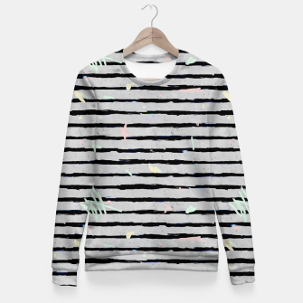 Thumbnail image of Whimsical Stripes Fitted Waist Sweater, Live Heroes