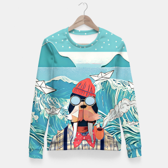 Miniaturka Walrus and the paper boats Fitted Waist Sweater, Live Heroes