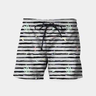Thumbnail image of Whimsical Stripes Swim Shorts, Live Heroes