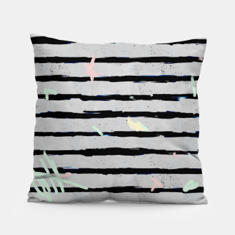 Thumbnail image of Whimsical Stripes Pillow, Live Heroes