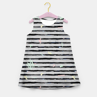 Thumbnail image of Whimsical Stripes Girl's Summer Dress, Live Heroes