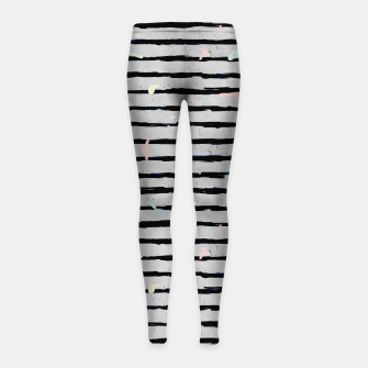 Thumbnail image of Whimsical Stripes Girl's Leggings, Live Heroes