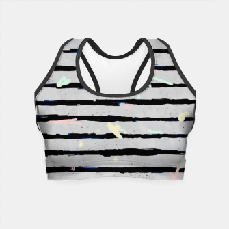 Thumbnail image of Whimsical Stripes Crop Top, Live Heroes