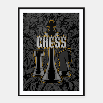 Thumbnail image of Chess Royalty Framed poster, Live Heroes