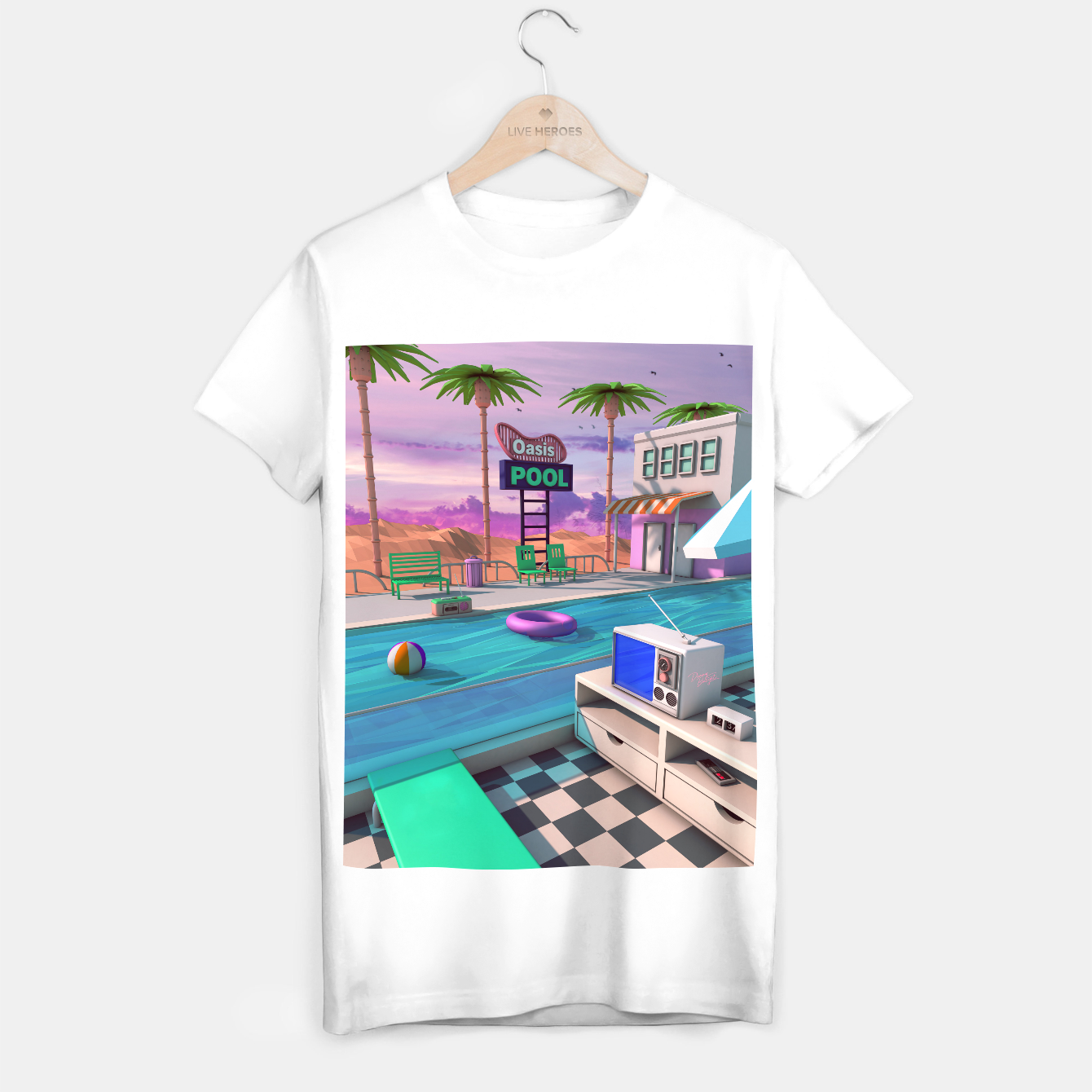 Image of Oasis Pool T-shirt regular - Live Heroes