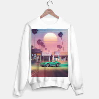 Thumbnail image of Synthwave Sunset Drive Sweater regular, Live Heroes