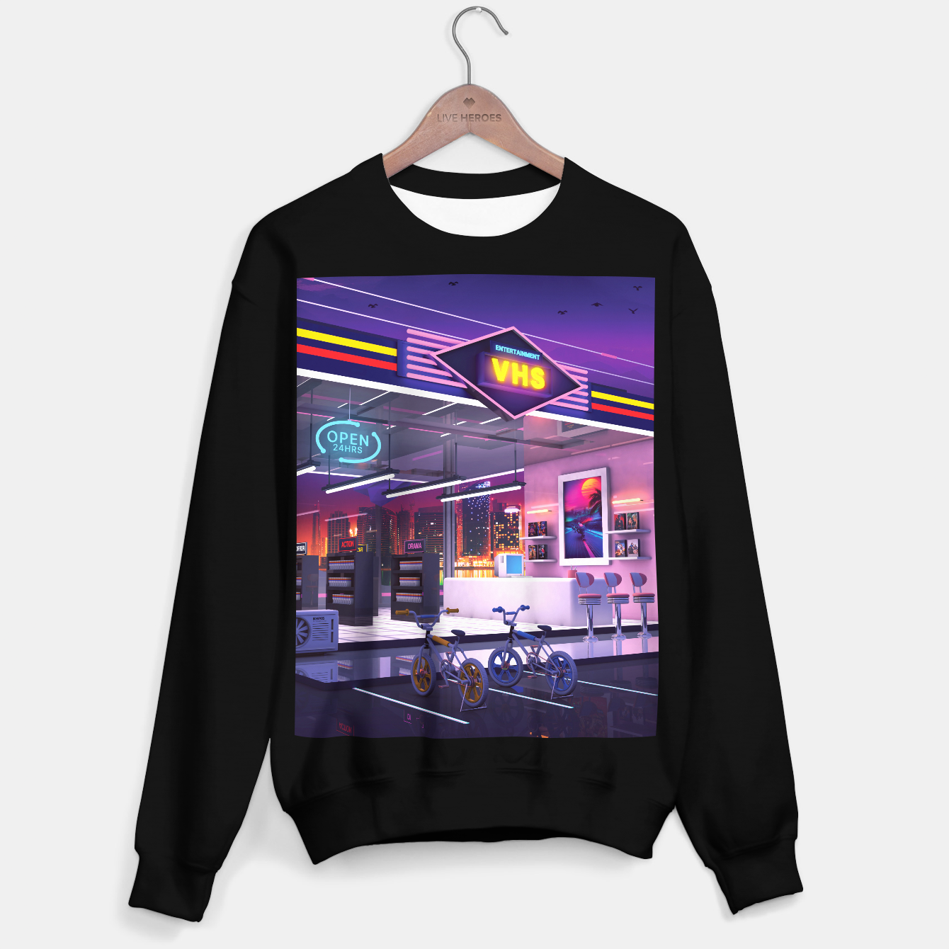 Image of VHS Video Store Sweater regular - Live Heroes