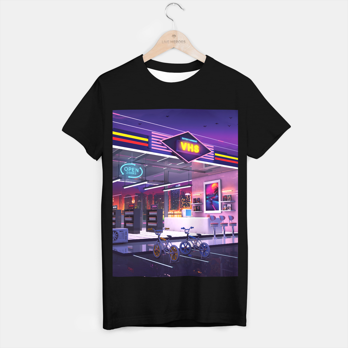Image of VHS Video Store T-shirt regular - Live Heroes