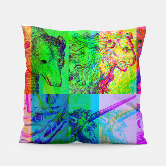 Miniaturka Animals Engraving Color Patchwork Pillow, Live Heroes