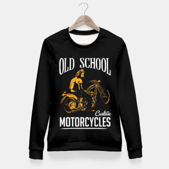 Thumbnail image of Old School Motorcycles Fitted Waist Sweater, Live Heroes