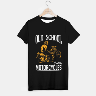 Thumbnail image of Old School Motorcycles T-shirt, Live Heroes
