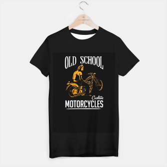 Thumbnail image of Old School Motorcycles T-shirt regular, Live Heroes