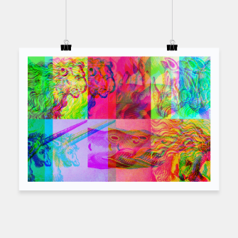 Miniaturka Animals Engraving Color Patchwork Poster, Live Heroes