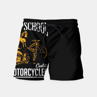 Thumbnail image of Old School Motorcycles Swim Shorts, Live Heroes