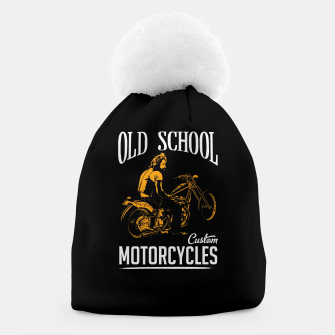 Thumbnail image of Old School Motorcycles Beanie, Live Heroes