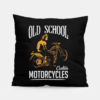 Thumbnail image of Old School Motorcycles Pillow, Live Heroes