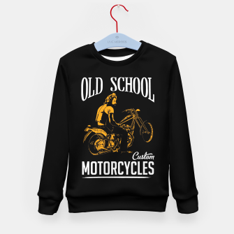 Thumbnail image of Old School Motorcycles Kid's Sweater, Live Heroes