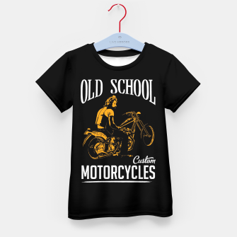 Thumbnail image of Old School Motorcycles Kid's T-shirt, Live Heroes