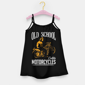 Thumbnail image of Old School Motorcycles Girl's Dress, Live Heroes