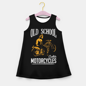 Thumbnail image of Old School Motorcycles Girl's Summer Dress, Live Heroes