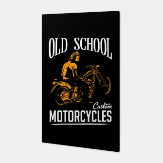 Thumbnail image of Old School Motorcycles Canvas, Live Heroes