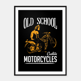 Thumbnail image of Old School Motorcycles Framed poster, Live Heroes