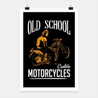 Thumbnail image of Old School Motorcycles Poster, Live Heroes