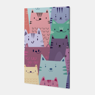 Thumbnail image of Pastel Cats Canvas, Live Heroes