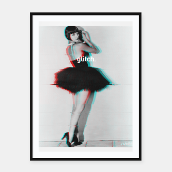 Thumbnail image of Louise Brooks Glitch Framed poster, Live Heroes