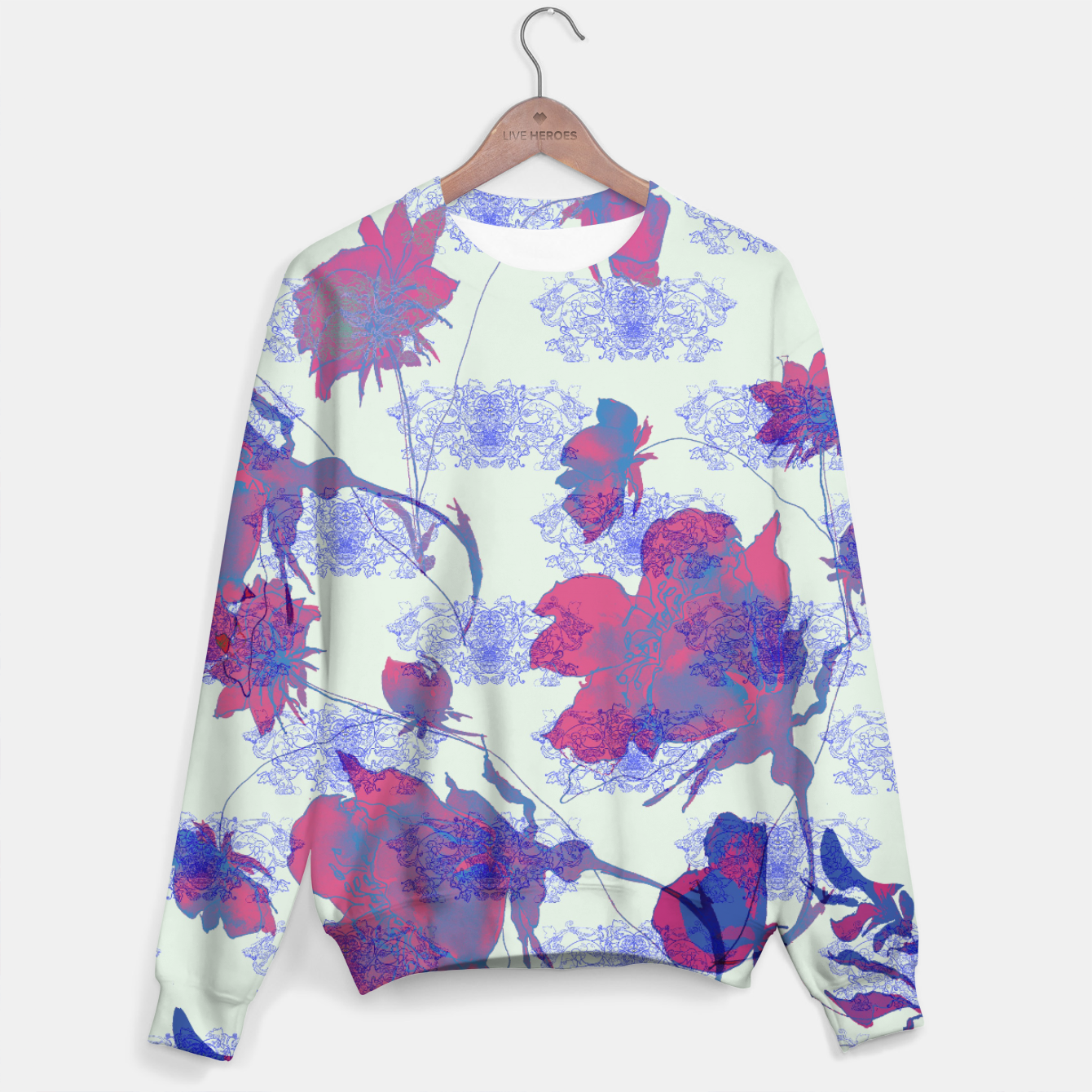 Image of Floral in orient Sweater - Live Heroes