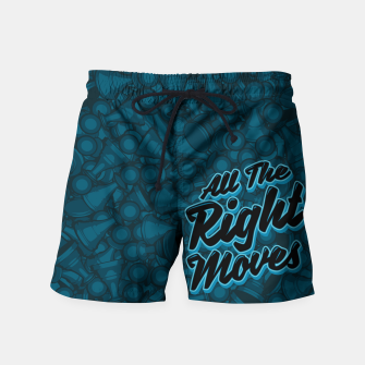 Thumbnail image of All The Right Chess Moves Swim Shorts, Live Heroes