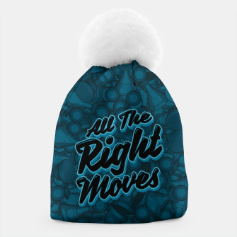 Thumbnail image of All The Right Chess Moves Beanie, Live Heroes