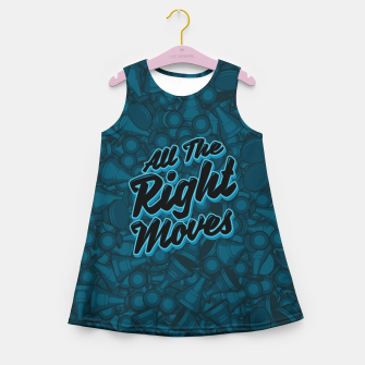 Thumbnail image of All The Right Chess Moves Girl's Summer Dress, Live Heroes